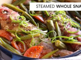 STEAMED SNAPPER | HEALTHY RECIPE | CARIBBEAN STEAMED FISH