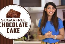 Sugar-Free Chocolate Cake By Sana Fakhar