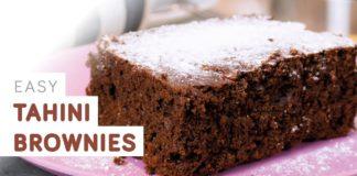 Tahini brownies - easy vegan recipe
