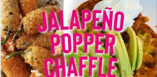 The BEST Jalapeño Popper CHAFFLE Recipe! Keto / Low Carb (In under 1 minute!)