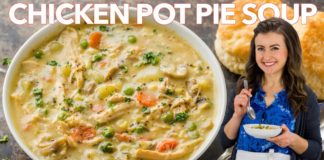 The ULTIMATE CHICKEN POT PIE SOUP - One Pot Comfort Food