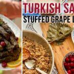 Turkish Stuffed Grape Leaves Yaprak Sarma / Dolma - Vegan Recipe