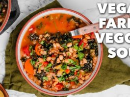 VEGAN FARRO VEGGIE SOUP | Easy Whole Foods Recipe