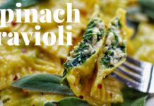 VEGAN SPINACH RAVIOLI - FUN HOLIDAY RECIPE [NO SPECIAL EQUIPMENT USED] | PLANTIFULLY BASED