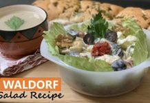 Waldorf Salad Recipe - Apple Walnut Salad - New York Salad Recipe - Vegetarian Salad recipe