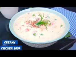 chicken soup-creamy chicken soup-chicken vegetable soup-cream of chicken soup #chickensoup
