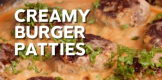 Creamy Burger Patties • Keto recipe