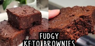 Extra Fudgy Keto Brownies! The best quick and easy recipe using olive oil