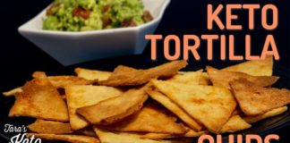 Keto Nacho Chips: Have A Low Carb Snack with Keto Tortilla Chips and Guacamole!