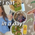 WHAT I EAT IN A DAY | realistic & healthy vegetarian meal ideas (vlog style) 🌱