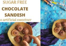 sugar free chocolate sandesh recipe | no artificial sweetner | healthy sandesh recipe