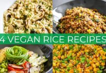 4 VEGAN RICE RECIPES | FRIED RICE | SUSHI BUDDHA BOWL | RISOTTO | COCONUT CHICKPEA RICE EASY RECIPE