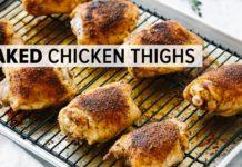 CRISPY BAKED CHICKEN THIGHS | gluten-free, paleo, keto recipe