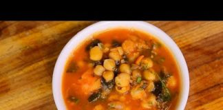 Chickpea Soup  -  vegan plant based diet garbanzos recipe