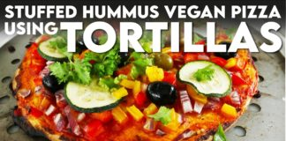 Easy Vegan Recipes | QUICK Healthy Pizza (Made With Tortilla Wraps)