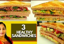 Healthy Sandwich Recipes | Weight Loss | Veg Sandwich | Dieting | Diabetic Diet | Tasty & Healthy