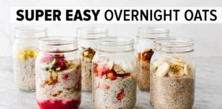OVERNIGHT OATS   easy, healthy breakfast & 6 flavor ideas!