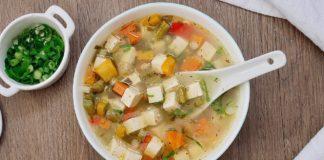 Simple & Healthy Vegan Tofu Veggie Soup