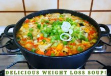 The best cabbage soup for weight loss |  Eat this for 7 days to lose some pounds!