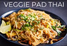 VEGGIE PAD THAI RECIPE | EASY VEGAN NOODLE STIR FRY (ผัดไทย)
