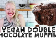 Vegan Double Chocolate Muffins Recipe • I'm Back! :)