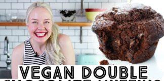 Vegan Double Chocolate Muffins Recipe • I'm Back! :)