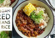 Vegan Red Beans and Rice // EASY OIL FREE PLANT BASED DINNER RECIPE