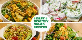 4 Easy & Healthy Salad Recipes | Protein Salad | Power Packed Salad | Mexican Salad | Quinoa salad