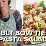 BLT Bowtie Pasta Salad Recipe | Potluck Recipe