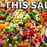 Cabbage, Kale & Mandarin Salad | Forks Over Knives | Nutritarian & Vegan | Recipe Test Review