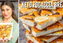 EASY KETO FOCACCIA BREAD! How to Make Keto Focaccia Bread! ONLY 1 NET CARB!