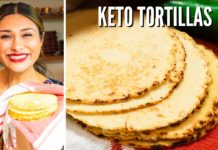 EASY KETO TORTILLAS! How to Make Keto Almond Flour Coconut Flour Tortillas! ONLY 1 NET CARB!