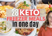 EASY MONTHLY KETO MEAL PREP | FREEZER KETO DINNERS FOR A MONTH