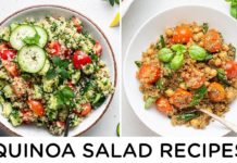 EASY QUINOA SALAD RECIPES ‣‣ great for beginners