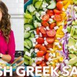 Fresh  & Healthy Greek Salad Recipe + Easy Dressing -  Natasha's Kitchen