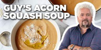 Guy Fieri's Acorn Squash Soup |  Guy's Big Bite |  Food Network