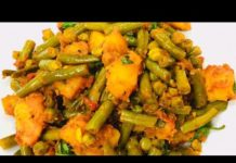 HEALTHY GREEN BEANS POTATO RECIPE INDIAN STYLE | GREEN BEANS ALOO KI SABJI | VEGAN RECIPE