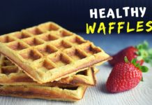 HEALTHY waffle recipe with oats. My NEW favorite easy breakfast!