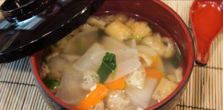 Japanese Vegetable Soup (Yoshinoju) 吉野汁の作り方