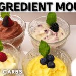 KETO RECIPE | 3 Ingredient Mousse | 1.5g Net Carbs | 4 Flavours | Ready in Minutes