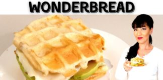 KETO RECIPE | Wonderbread/ White Bread Chaffles | LCHF | Keto Bread #Shorts