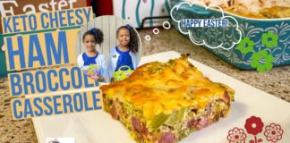 Keto Cheesy Ham and Broccoli Casserole - A New Holiday FAVORITE! #ketorecipes #lowcarbrecipes