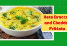 Keto Diet Recipe  -  Keto Broccoli and Cheddar Frittata