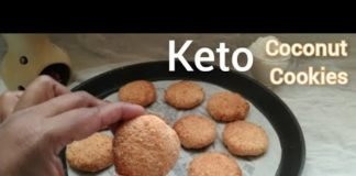 Keto Recipe - 3 Ingredient Keto Coconut Cookies | Low Carb Cookies