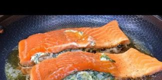 Keto Stuffed Salmon Recipe | Keto Daily