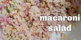 MACARONI HAM SALAD | Cold Macaroni Salad Recipe | Ensalada De Coditos
