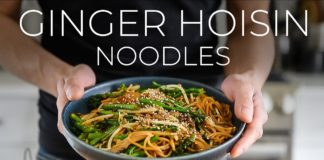 QUICK GINGER HOISIN UDON NOODLES RECIPE | EASY VEGAN DINNER IDEA