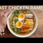 Quick Homemade Chicken Ramen and Udon Noodle Soup