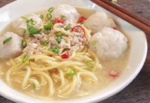 SUPER YUMMY Singapore Teochew Homemade Fishball Noodle Soup Recipe 潮州 鱼圆 面汤 Singapore Food Recipe