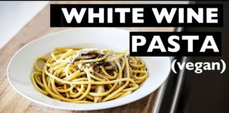 WHITE WINE PASTA VEGAN RECIPE | 5 INGREDIENT BIANCO PASTA